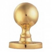 Ball Knob Furniture Polished Brass
