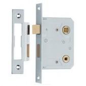 Mortice Bathroom Lock Nickel
