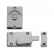 Union Satin Chrome Toilet Door Lock with Vacant Engaged Indicator