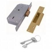 Chubb 3K70 Detainer Mortice Sashlock Brass