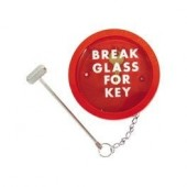 Break Glass Red Key Box