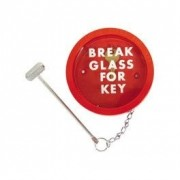Break Glass Red Key Box