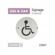 Disabled Symbol Pictogram 76mm dia