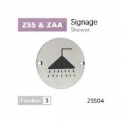 Shower Symbol Pictogram 76mm dia