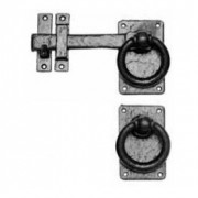 Antique Black 1248 Gate Latch on Square Plate