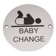 Baby Change Symbol Pictogram 76mm dia