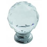 Faceted Lead Crystal Cupboard Knob