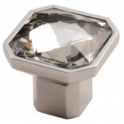 Facetted Square Crystal Cupboard Knob