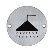 Shower Symbol Pictogram 76mm dia
